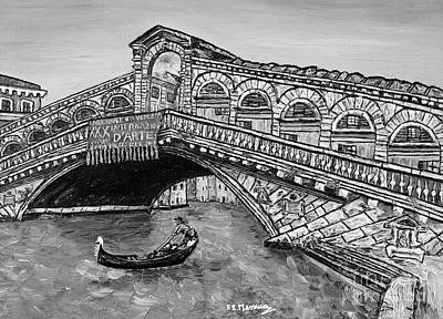 Ponte Di Rialto Art Print by Loredana Messina
