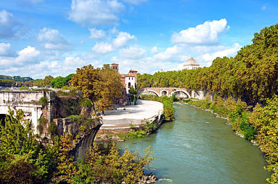 Tiber Island Wall Art - Photograph - Ponte Emilio Today Called Ponte Rotto by Nico Tondini