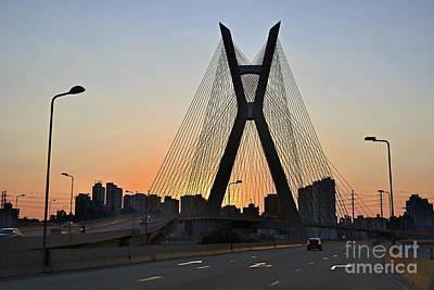 Photograph - Ponte Octavio Frias De Oliveira Ao Cair Da Tarde by Carlos Alkmin