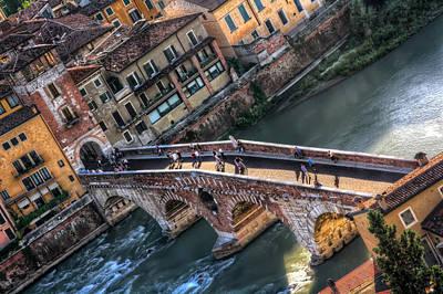 Stone Buildings Photograph - Ponte Pietra Verona by Carol Japp