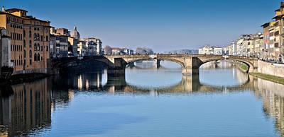 Photograph - Ponte Santa Trinita Florence Italy by Gary Eason
