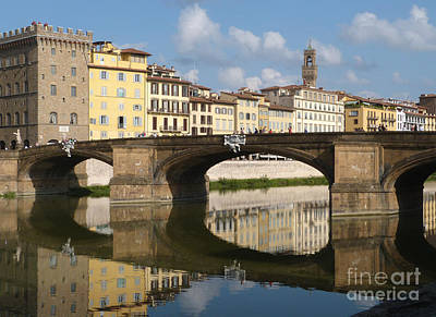 Photograph - Ponte Santa Trinita - Holy Trinity Bridge - Florence by Phil Banks