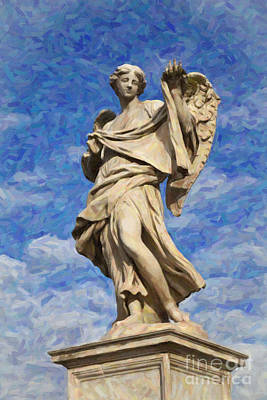 Ponte Sant'angelo Angel Of The Passion Art Print