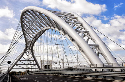 Ostiense Photograph - Ponte Settimia Spizzichino by Fabrizio Troiani