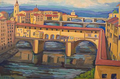 Painting - Ponte Vecchio 2 by Doris  Lane Grey