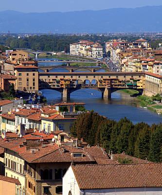Photograph - Ponte Vecchio And Arno River by Caroline Stella