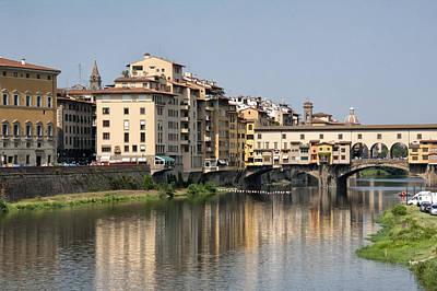 Photograph - Ponte Vecchio And Vasari Corridor by Melany Sarafis