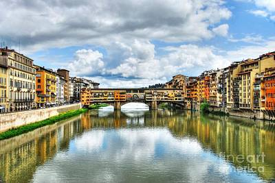 Photograph - Ponte Vecchio At Florence Italy 2 by Mel Steinhauer
