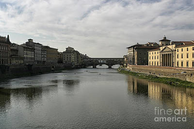 Art Print featuring the photograph Ponte Vecchio by Belinda Greb