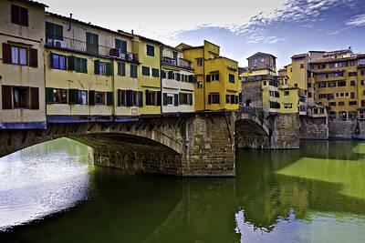 Photograph - Ponte Vecchio Bridge by Walt  Baker