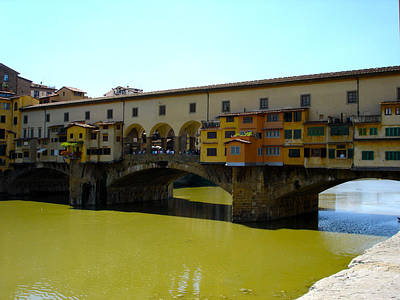 Ponte Vecchio Close Art Print by Chuck Stewart