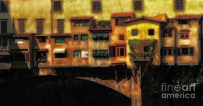 Ponte Vecchio Firenze Art Print by Mike Nellums