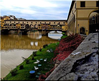 Photograph - Ponte Vecchio Florence Italy by David Coblitz