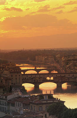 Historic Bridge Photograph - Ponte Vecchio Florence Italy by Panoramic Images