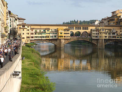 Photograph - Ponte Vecchio - Florence by Phil Banks