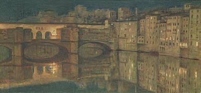 Ponte Vecchio, Florence Art Print by William Holman Hunt