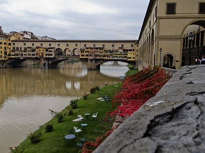 Photograph - Ponte Vecchio In Florence Italy by David Coblitz