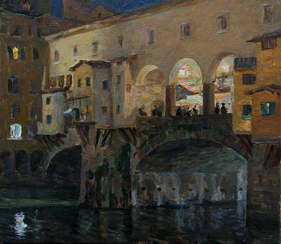 Painting - Ponte Vecchio by Korobkin Anatoly