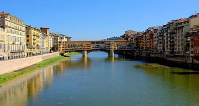 Photograph - Ponte Vecchio Over The Arno by Caroline Stella