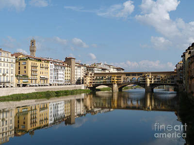 Photograph - Ponte Vecchio - The Old Bridge - Florence by Phil Banks
