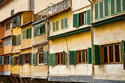 Photograph - Ponte Vecchio Windows by Mick House