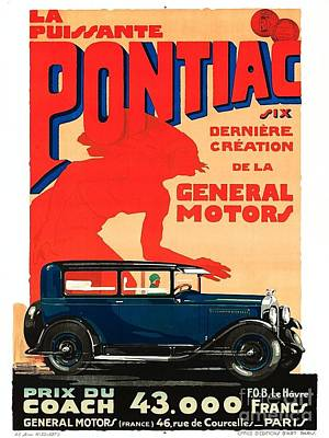Painting - Pontiac - 1928 by Roberto Prusso