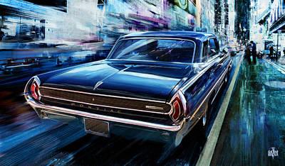 City Scenes Digital Art - PONTIAC 1962 GRANDE PRIX Special Edition by Garth Glazier