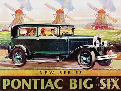 Painting - Pontiac Big Six - Poster by Roberto Prusso