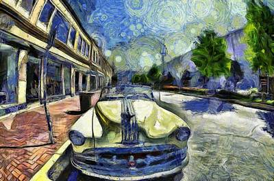 Inspired By Van Gogh Wall Art - Painting - Pontiac Convertible by L Wright