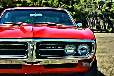 Painting - Pontiac Firebird Coupe 1968 by Florian Rodarte