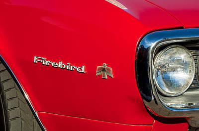 Photograph - Pontiac Firebird Emblem by Jill Reger