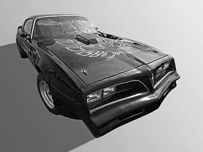 Photograph - Pontiac Firebird Trans Am 1978 In Black And White by Gill Billington