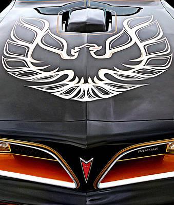 Vintage Hood Ornament Photograph - Pontiac Trans Am Firebird Emblem by Gill Billington