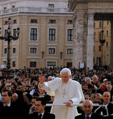 Photograph - Pontiff's Greeting by Caroline Stella