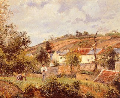 Fertile Painting - Pontoise by Camille Pissarro