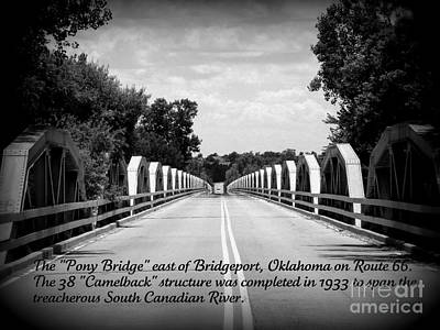 Photograph - Pony Bridge 1 by Jim McCain
