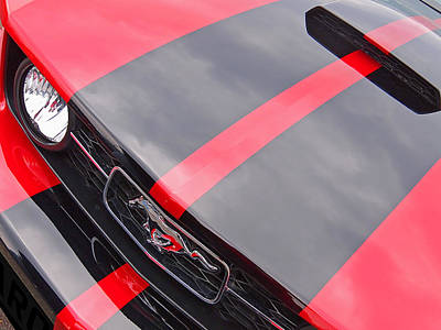 Photograph - Pony Grille Red And Black by Gill Billington