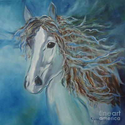 Pony Art Print by Jenny Lee