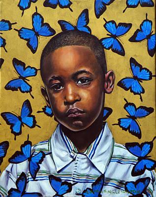 African-american Painting - Ponyboy II by Clayton Singleton