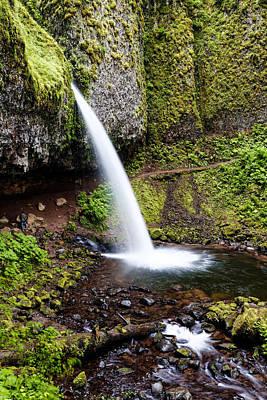 Photograph - Ponytail  Falls - Columbia River Gorge Oregon by Silvio Ligutti