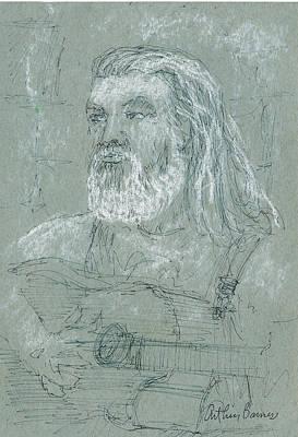 Musicians Drawings - Poobah by Arthur Barnes