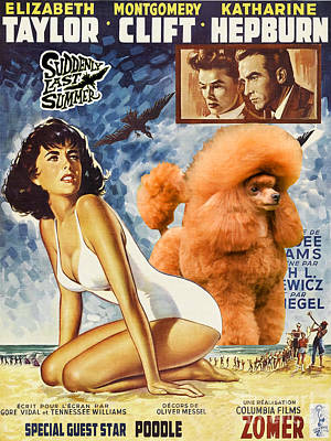 Poodle Painting - Poodle Art - Suddenly Last Summer Movie Poster by Sandra Sij