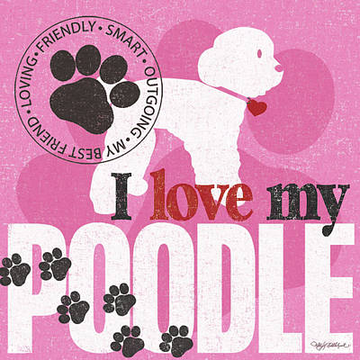 Family Love Painting - Poodle by Kathy Middlebrook