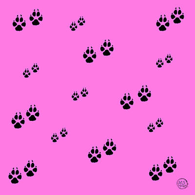 Digital Art - Poodle Paws by Absinthe Art By Michelle LeAnn Scott