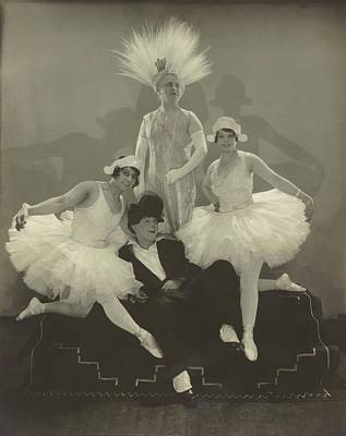 Poodle Wall Art - Photograph - Poodles Hanneford With Fellow Circus Performers by Edward Steichen