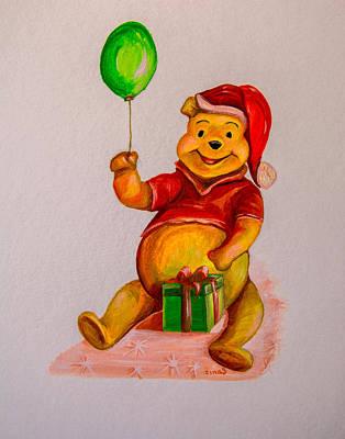 Pooh Bear 2 Art Print by Zina Stromberg