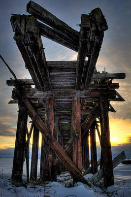 Cp Rail Photograph - Pool 6 Loading Pier by Jakub Sisak