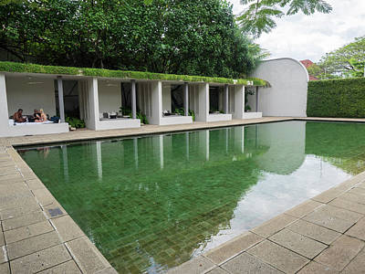 Pool At Amangalla Hotel, Galle Fort Art Print