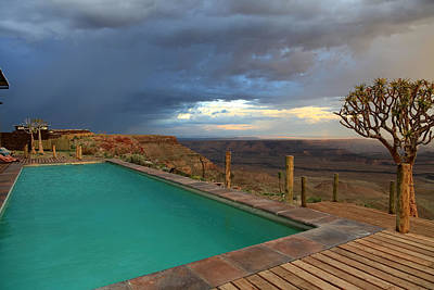 Capt. Greg Daley Photograph - Pool At Fish River Canyon Lodge by Gregory Daley  PPSA
