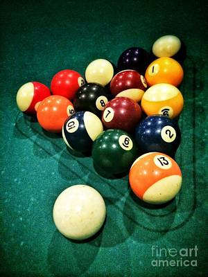 Cue Ball Photograph - Pool Balls by Carlos Caetano
